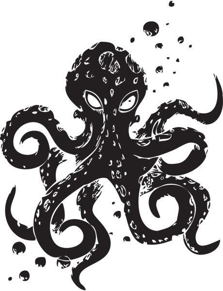 Angry Octopus Vinyl Wall Decal Gothic Home Decor In 2021 Vinyl Wall Decals Wall Decals Gothic Wall