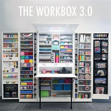 Collapsible Crafting Closet Workbox 3 0 By The Original Scrapbox Ecosia Craft Armoire Craft Storage Cabinets Craft Organizer Cabinet