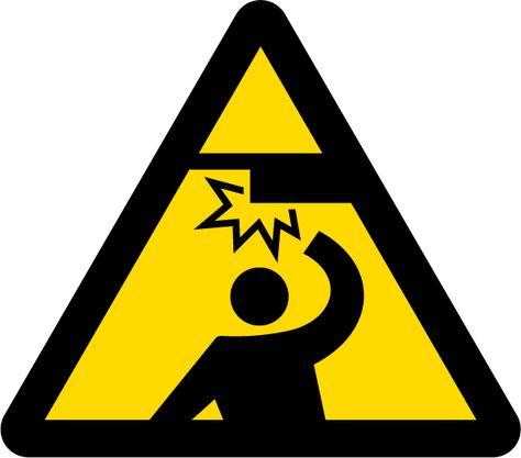 7 注意 Warning 天井に注意 Caution Overhead 図 記号 財団