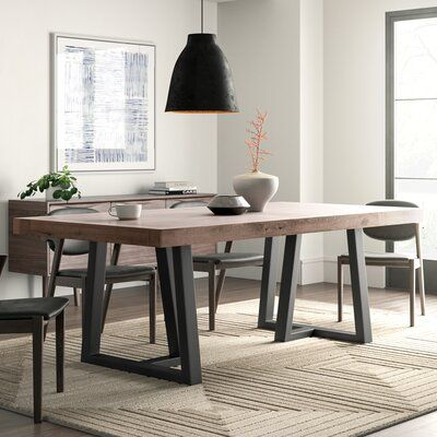 trendy dining table design ideas that look fantastic Stephen dining table allmodern How to make a DIY dining table out of concrete and woodHow to make a DIY dining table out of concrete and Concrete Dining Table, Dining Table Design, Solid Wood Dining Table, Extendable Dining Table, Dining Room Table, Table And Chairs, Side Chairs, Wood Tables, Reclaimed Dining Table