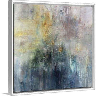 Orren Ellis Fathom Findings Painting On Canvas Format White Floater Frame Size 37 7 H X 37 7 W X 1 75 D In 2020 Painting Canvas Size Canvas