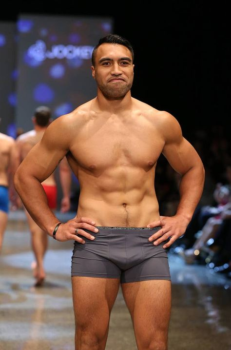 New Zealand Rugby player Victor Vito in grey pants - ----------------- 21 Rugby Players That Are So Rucking Hot