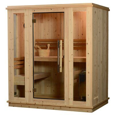 Almost Heaven Saunas Auburn Fir 3 Person Steam Traditional Sauna Indoor Sauna Traditional Saunas Steam Sauna