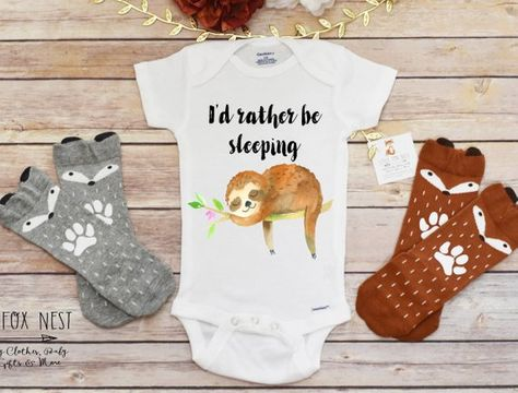 9f45aa993 SLOTH Baby Clothes   Sloth baby clothing cute baby by boygirlparty ...