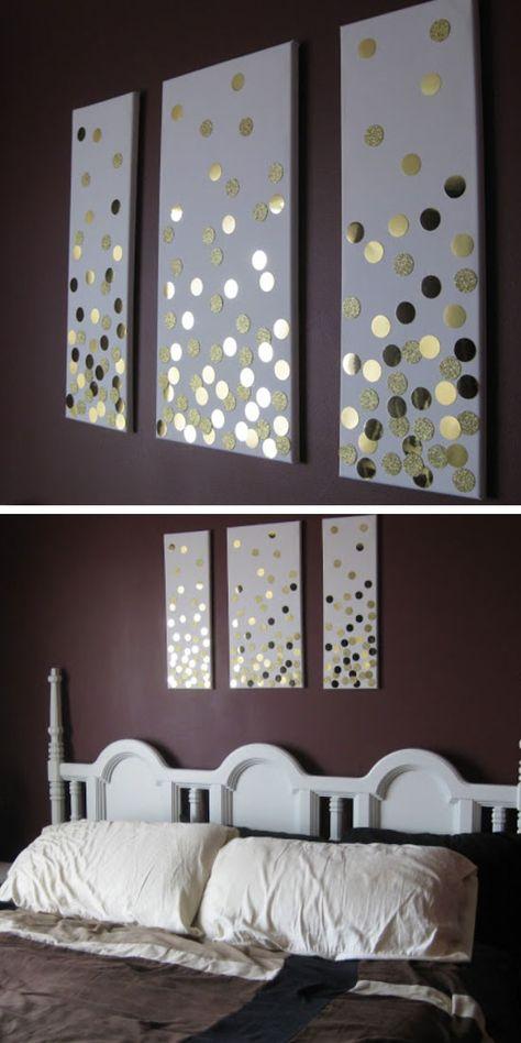 Bedroom Decor Wall Art 35 creative diy wall art ideas for your home | diy canvas, diy
