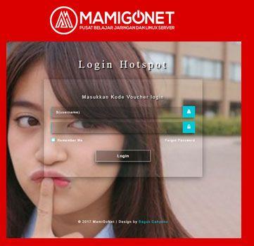 Template Login Page Mikrotik Keren Transparent V 01 Belajar