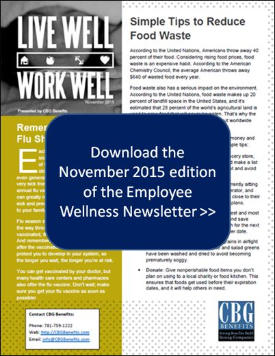 Employee Wellness Newsletter for November 2015 Flu Shots - employee newsletter template