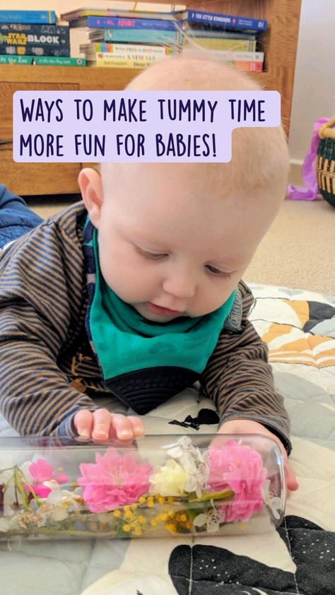 4 Ways to make tummy time more fun for babies!