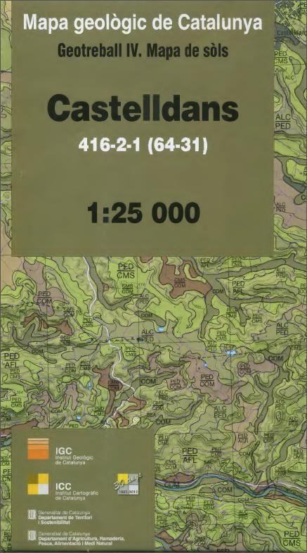 Nabibgeo Mapa De Sols 1 25 000 Geotreball Iv Castelldans 416 2