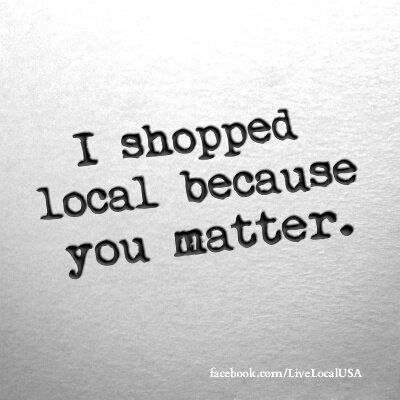 If you are lucky enough to be surrounded by a community of locally owned businesses....enjoy, appreciate and support them. #loveyourlocal