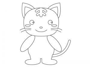 Kids Nurie 最高のコレクション 猫 塗り絵 塗り絵 キャラクター 塗り絵 猫 サークル