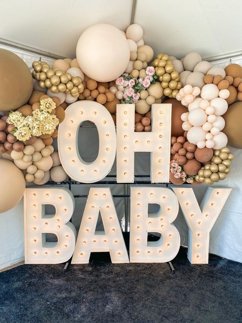 Baby Shower Decorations Neutral, Gender Reveal Party Decorations, Baby Gender Reveal Party, Fiesta Baby Shower, Baby Shower Games, Baby Shower Parties, Deco Ballon, Teddy Bear Baby Shower, Festa Party