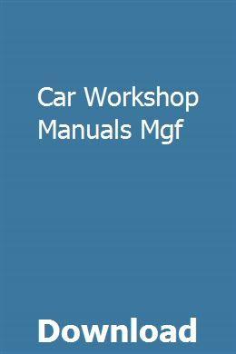 Car workshop manual for amficar   monelquanor.