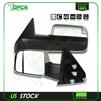 Sponsored Ebay Towing Power Heated Signal Chrome For 2002 08 Dodge Ram Side View Mirrors Pair Dodge Ram Towing Mirror Towing