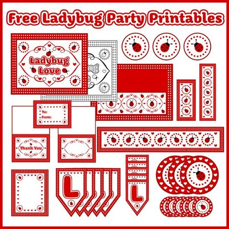 FREE Ladybug Party Printable from Printabell- 2 downloads- Party printable kit & Banner- Be patient the party kit is 15 page download so it takes a minute to download. You could also use in gift packaging & scrapbooking pages!