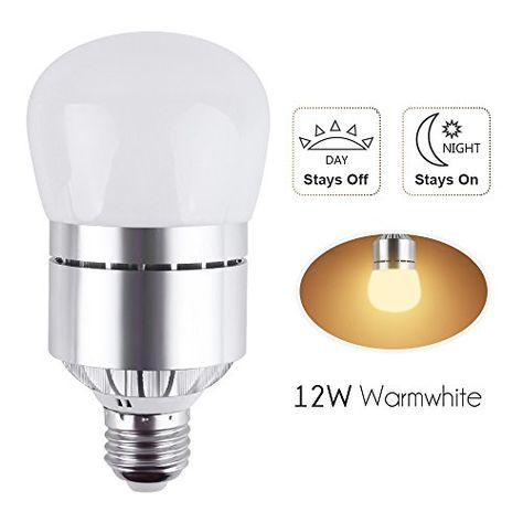 Led Dusk To Dawn Sensor Light Bulb 12w 1200lm E26 Socket 3200k Warm White Automatic Light Sensor Bulbs With Light Sensor Garden Security Lighting Dusk To Dawn