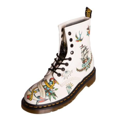 Dr Martens Womens Ladies 15102650 Louie Winter White Leather
