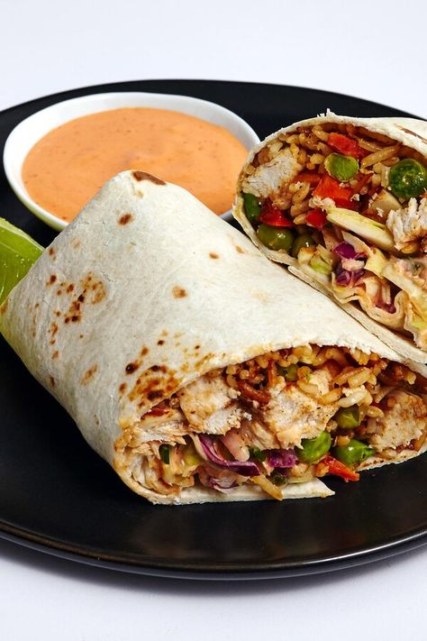 """Chicken Fried Rice Burrito 