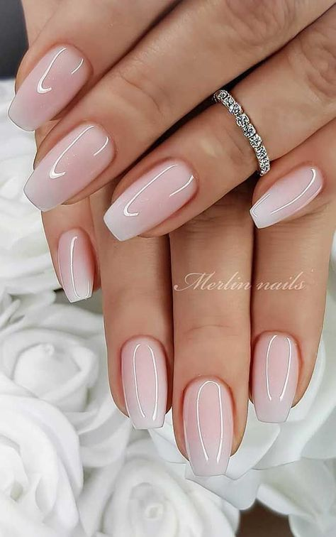 Wedding nail designs for brides, bridal nails wedding nails bride, wedding nails . - Wedding nail designs for brides, bridal nails wedding nails bride, wedding nails … # - Wedding Nails Design, Nail Wedding, Wedding Makeup, Simple Wedding Nails, Natural Wedding Nails, Bridal Nail Art, Wedding Acrylic Nails, Nail Designs For Weddings, Wedding Manicure