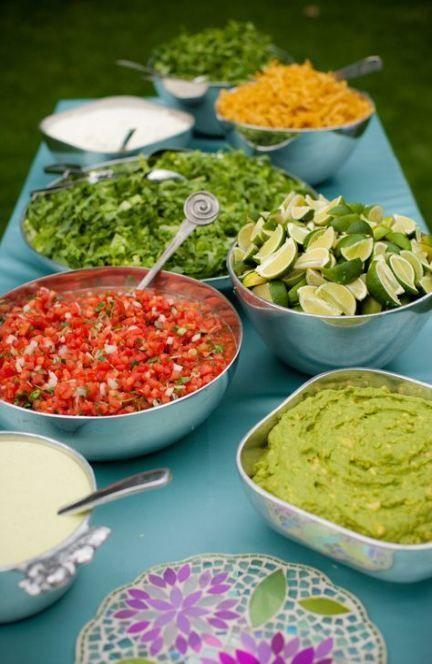 Wedding Reception Buffet Ideas Taco Bar 49 New Ideas Reception Food Wedding Food Menu Buffet Wedding Reception