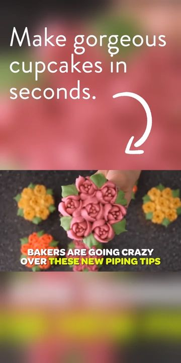 Make gorgeous flower cupcakes with our flower shaped frosting nozzles. perfect gift for someone you love  must have in kitchen Look inside for special deal