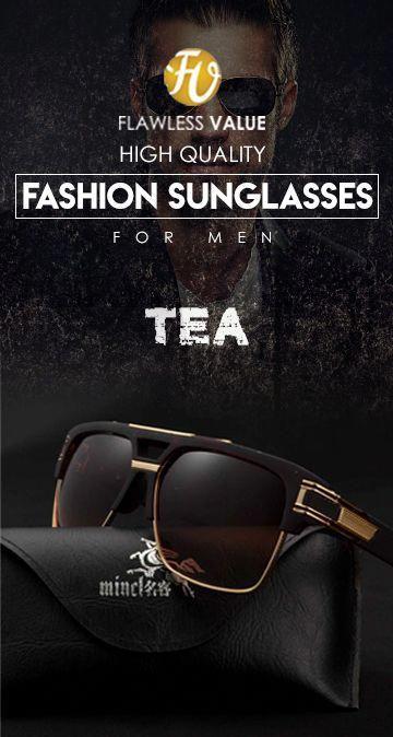 Mincl Uv400 Sunglassess Tea Edition Men S Affordable Top Brand Designer Style Fashion Accessories Eyewear Glas With Images Big Men Fashion Sunglasses Mens Spring Fashion