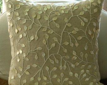 Designer Weiß 40x40 Cm Kissen Art Silk Kissenbezug Natur