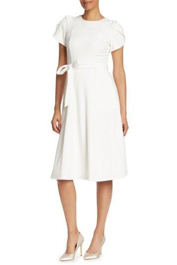 Calvin Klein Tulip Sleeve Fit Flare Dress Nordstrom Rack In 2020 Fit Flare Dress Flare Dress Fit N Flare Dress