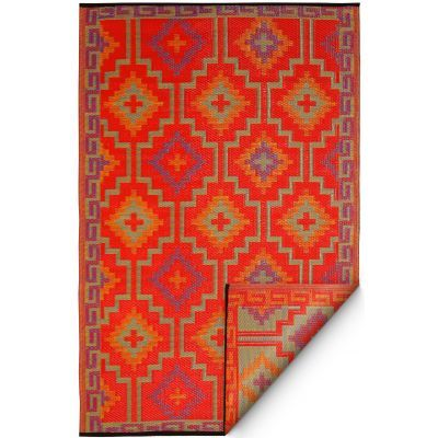 Lhasa Orange Violet Fab Habitat Indoor Outdoor Rugs Reversible Rug
