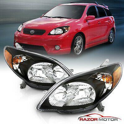 For 2003 2004 2005 2006 2007 2008 Toyota Matrix Jdm Black Headlights Pair In 2020 Black Headlights Toyota Jdm