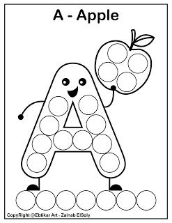 Set Of Abc Dot Marker Coloring Pages Free Printable Coloring Pages A For Apple Paint And Color Abc Coloring Preschool Alphabet Printables Abc Coloring Pages