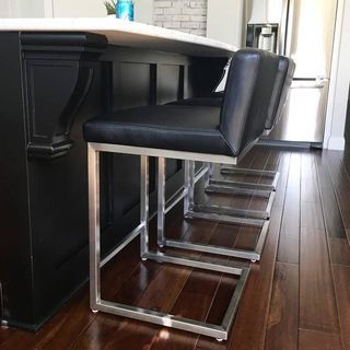 Lira Leather Counter Bar Stools Modern Counter Bar Stools