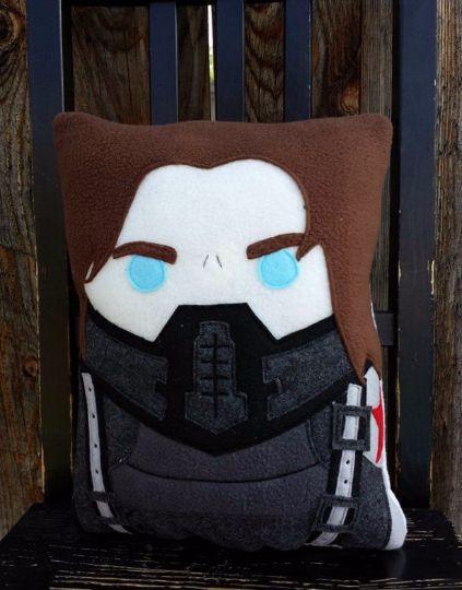 Marvel Winter Soldier The Avengers Bucky Barnes Captain Cat Doll Plush Pillow
