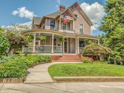 For Sale 499 900 This Classic Queen Anne Victorian Home W Its Spindles Dentil Trim Rounded Porch W Old Houses For Sale Queen Anne House Victorian Homes