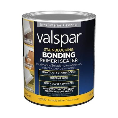 Valspar Interior Exterior Bonding Water Based Wall And Ceiling Primer Quart Lowes Com In 2020 Valspar Interior And Exterior Valspar Stain