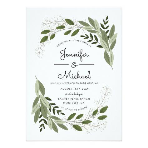 Wedding Sprigs - Wedding Invite