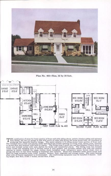 Ideal Homes Section Two Eleventh Edition Two Story Houses Plan Service Co Free Download Borrow And Streaming Internet Archive Vintage House Plans Story House Homestead House