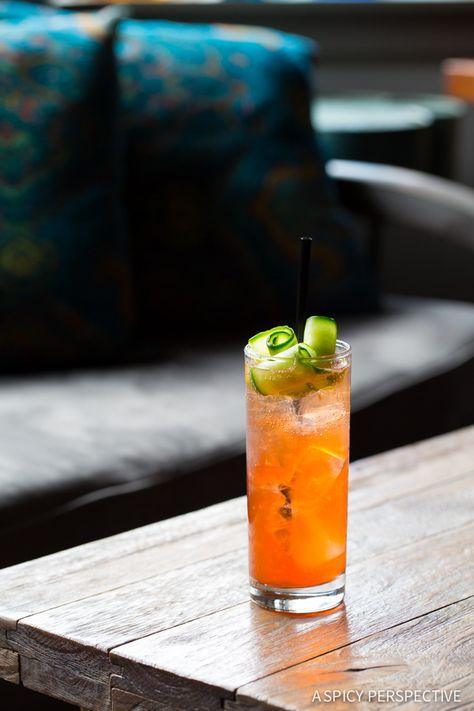 Love this Cucumber Rose Aperol Spritz #Cocktail