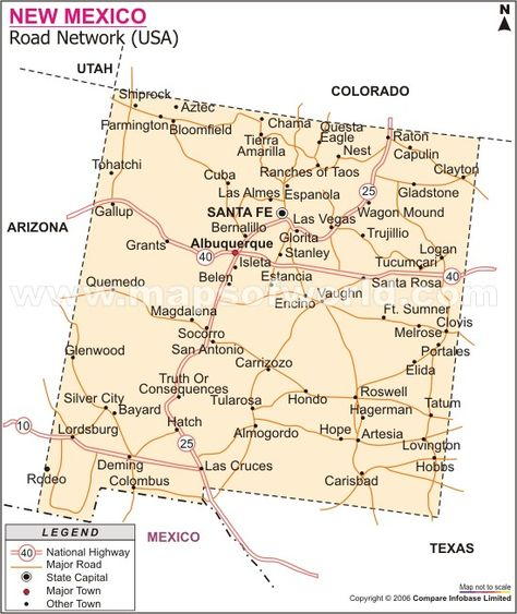 Map Of North Dakota Cities United States Of America USA Or - Road map of colombia 2006