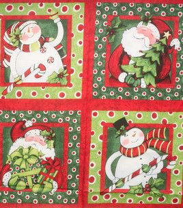 Holiday Inspirations Panel-36'' Susan Winget Christmas Pillow