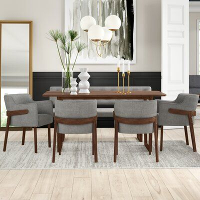 18++ 6 piece dining table with bench Best