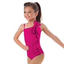 cd182f2e7 Girls  Metallic Ruffle Leotard
