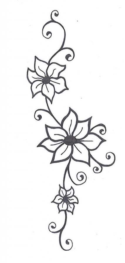 Trendy Tattoo Foot Lotus Deviantart Ideas Flower Vine Tattoos Simple Flower Drawing Simple Flower Tattoo