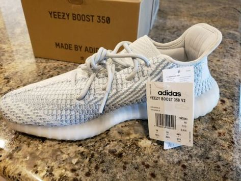 NWT Adidas Yeezy Boost 350 V2 Cloud White Non Reflective