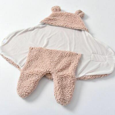 Baby Hooded Swaddle Knit Wrap Decke warme Kinderwagen Kinderwagen Schlafsack