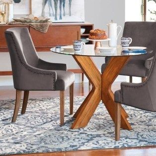20 Striking Round Glass Table Designs Ideas For Dining Room