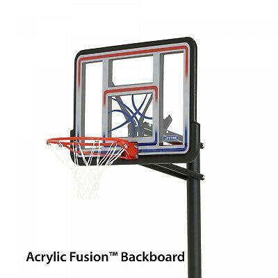 Details About Outdoor Ground Basketball System 44 Adjustable Backboard Pole Rim Shatterproof In 2020 Basketball Systems Portable Basketball Hoop Basketball Backboard