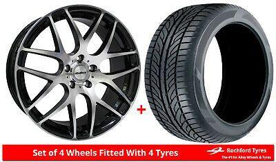 Details Zu Alloy Wheels Tyres 8 5x20 Calibre Exile R Black Pol 2554520 Economy Tyres Honda Pilot Vw Touareg Autos Und Motorrader