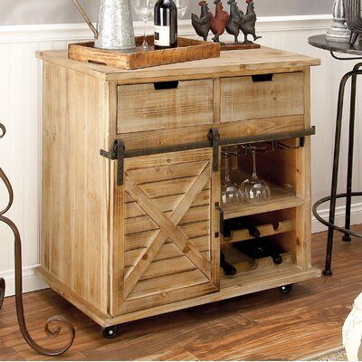 Gracie Oaks Coutu 2 Drawer Accent Cabinet Metal Storage Cabinets Barn Door Cabinet Door Storage