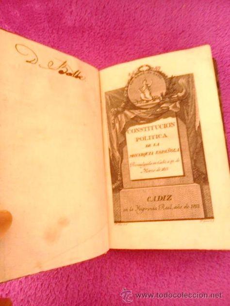 (OBRA DE MUSEO), CONSTITUCION POLITICA DE LA MONARQUIA ESPAÑOLA 1812, LA PEPA O CONST. DE CADIZ